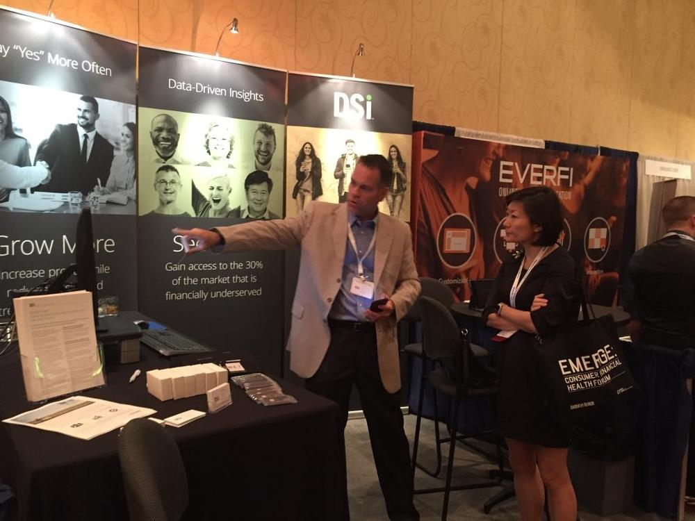 DSi SVP Craig Moore in action in our booth at EMERGE Forum 2016.